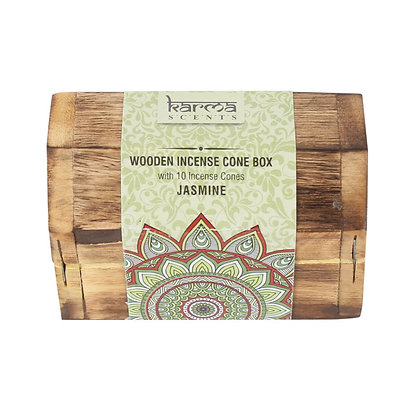Karma Jasmine Incense Cone Wooden Set