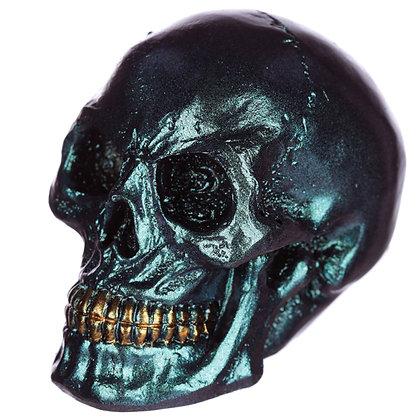 Blue Iridescent Skull Head Ornament