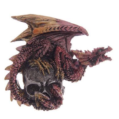 Red Dark Legends Silver Skull Dragon Magnet