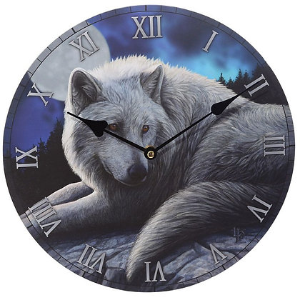 Guardian of the North Wolf - Lisa Parker Clock