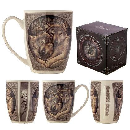 Loyal Wolf Companions Bone China Mug (Lisa Parker)