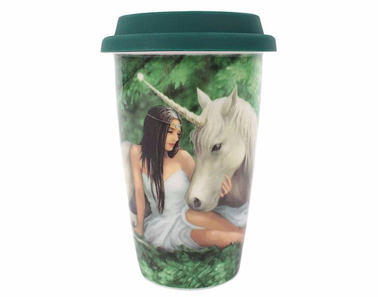 Pure Heart Unicorn Travel Mug (Anne Stokes)