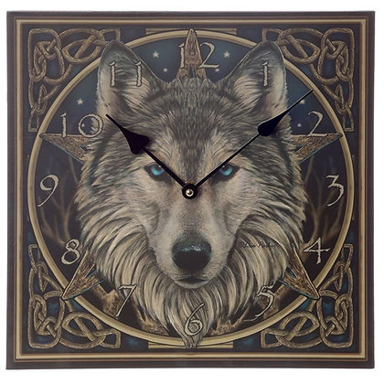 Celtic Wolf Head - Lisa Parker Clock