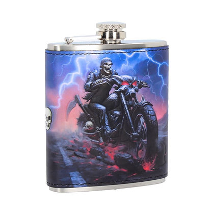 Hell on the Highway Reaper Hip Flask (James Ryman)