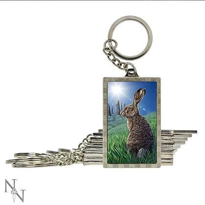 3D Keyring Solstice Hare - 5.6cm (Lisa Parker)