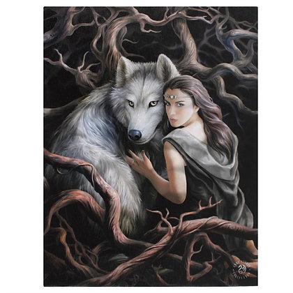 Soul Bond Wolf - Anne Stokes Canvas