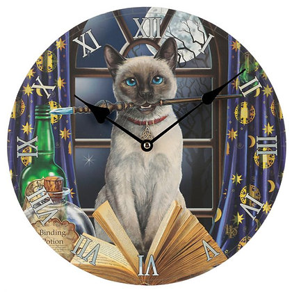 Hocus Pocus Cat - Lisa Parker Clock