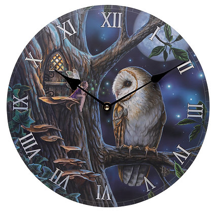 Owl and Fairy - Lisa Parker Clock