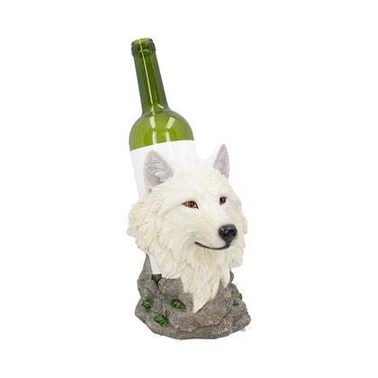 Snow Guide Wolf Wine Bottle Holder - 19.7cm