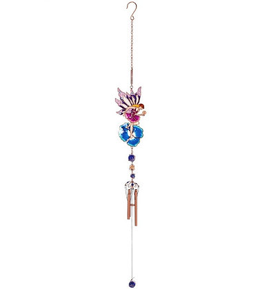 Fairy and Blue Flower Windchime