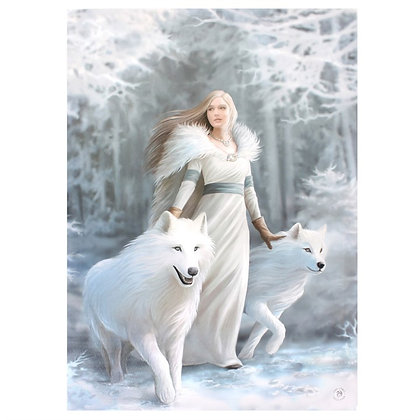 Winter Guardian Wolf - Anne Stokes Canvas
