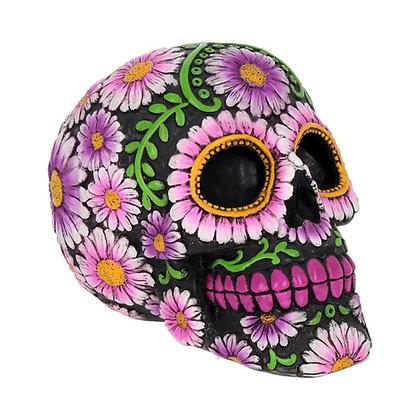 Sugar Petal Skull Ornament - 14.5cm