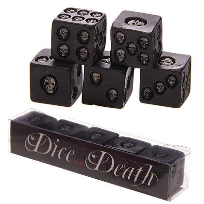 Black Skull Dice (Pack of 5)