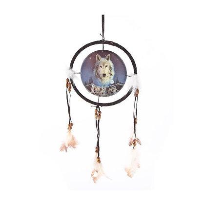 Wolf Spirit Dreamcatcher - 16cm