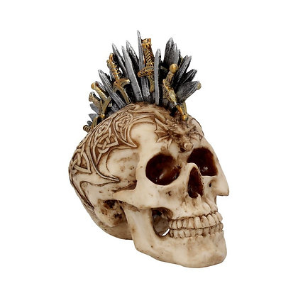 Sword Hawk Skull Ornament - 18cm