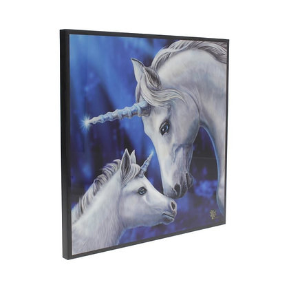 Sacred Love Unicorn Crystal Clear 25cm Picture - Lisa Parker
