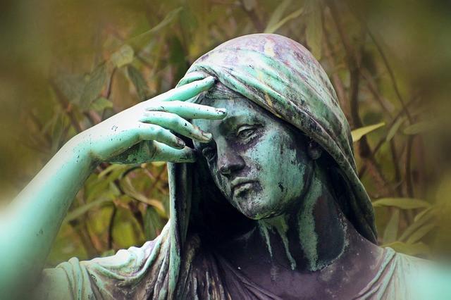 Bronze statue facepalm