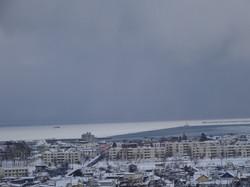 安養園から見えたオホーツク海の流氷