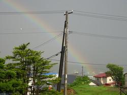 安養園から見えた虹