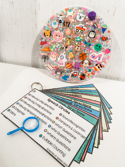 Speech Circles! A colorful, resin based craft with 10 different language activities!