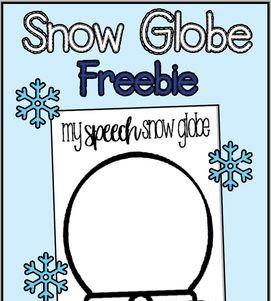 Speech Snow Globe