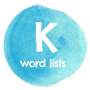 K Word Lists