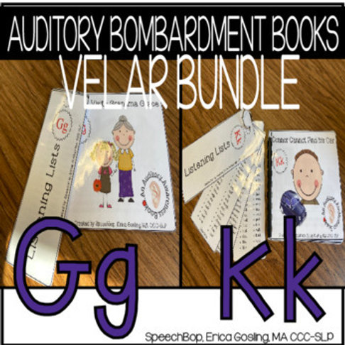 Auditory Bombardment Books - Velar Bundle (K&G)