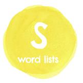 S Word Lists