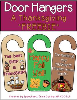 Thanksgiving Door Hangers