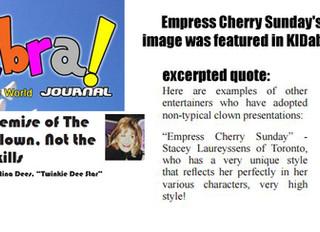 Empress Cherry Sunday's image was featured in Kidabra! Journal