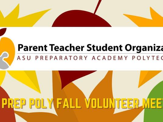 PTSO Fall Volunteer Meeting