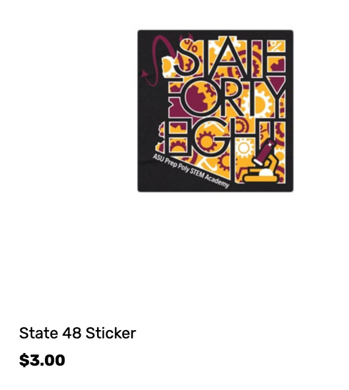 ASU PREP State48 Sticker