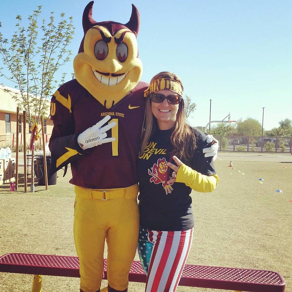 Carrie and Sparky at Run Devil Run