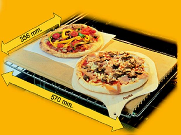 Pietra da forno pepita la refrattaria per la pizza nel - Piastra refrattaria per forno casalingo ...