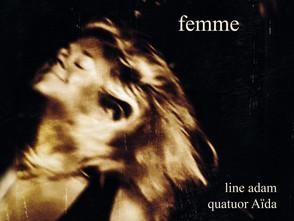 """Sortie de """"Femme"""", le nouvel album de la compositrice belge Line Adam"""