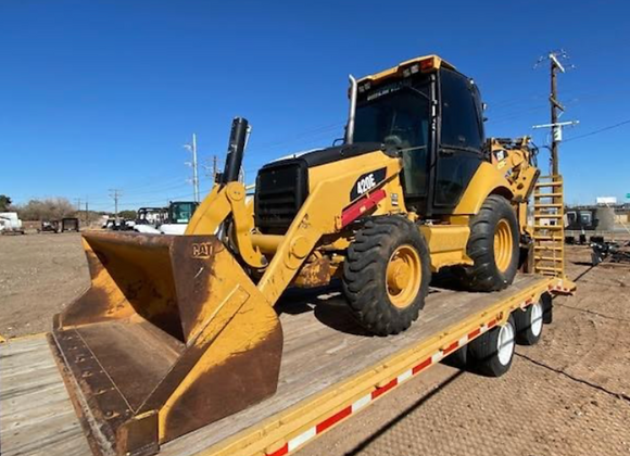 2014 CAT 420E Backhoe w/ Trailer