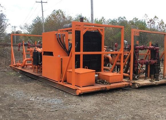 (6) 600hp Skidded Well Service Pumps