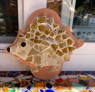 Mosaic Hedgehog on Saltillo Tile