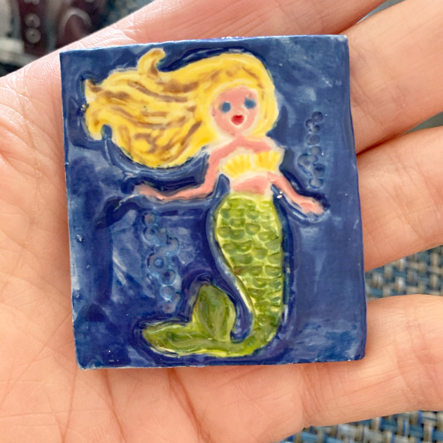 Handmade Mermaid Tile