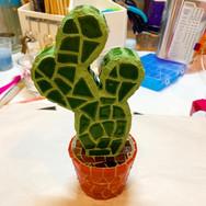 3D Mosaic Cactus Statue