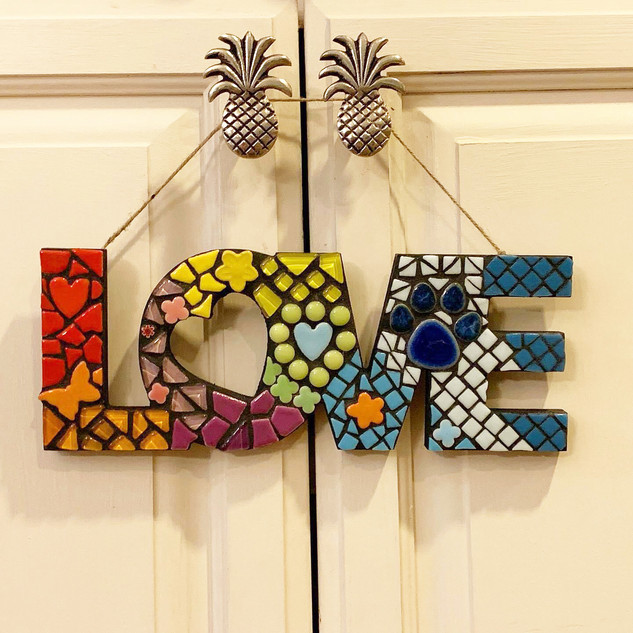 Multi-Colored Mosaic Love