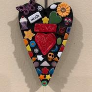 Mosaic Heart Ornament