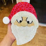 Mosaic Santa Claus