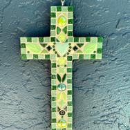 Green Mosaic Cross