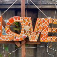 Orange Mosaic Love
