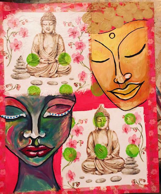 Mixed Media Buddha