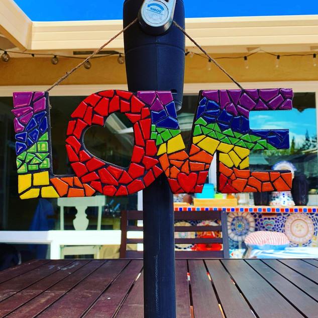 Rainbow Mosaic Love
