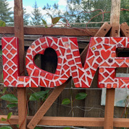 Red Mosaic Love
