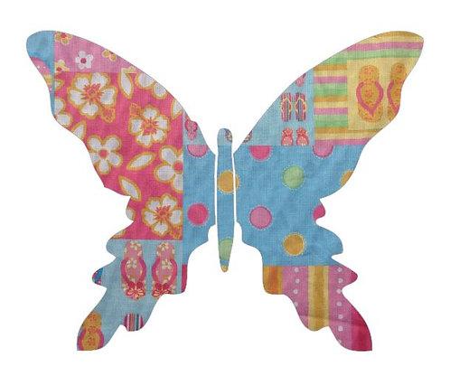 Butterfly pin board -beach girl