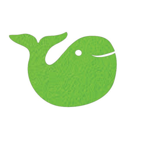 whale pin board - lime